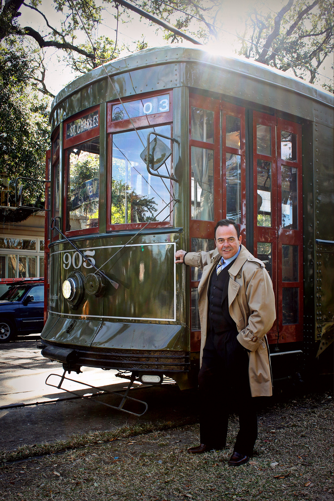 commander 39 s palace maitre d 39 carl ferandes rides the st charles streetcar ride new orleans. Black Bedroom Furniture Sets. Home Design Ideas