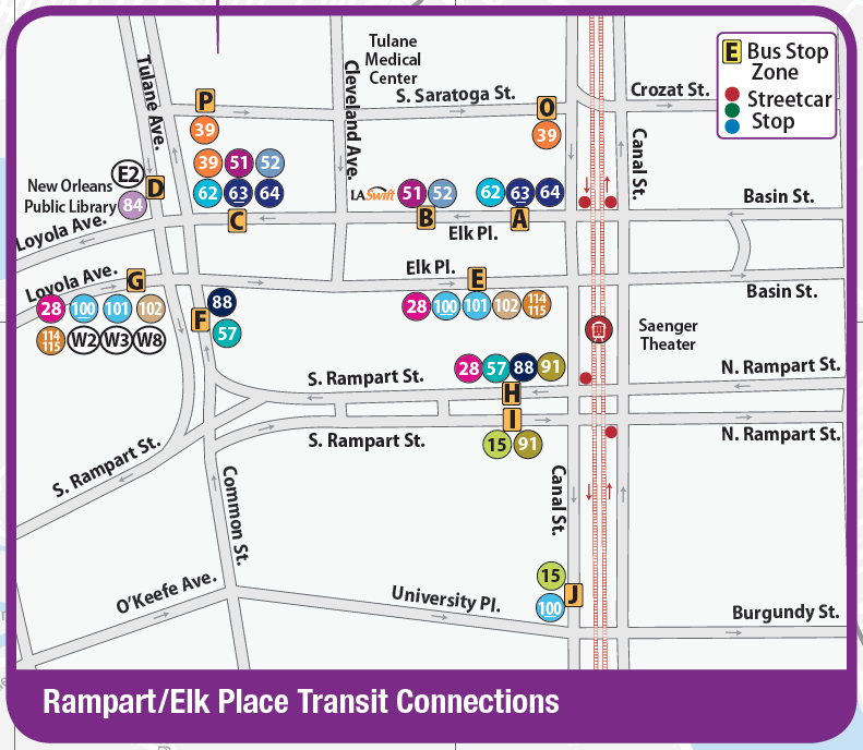RTA bus stop map